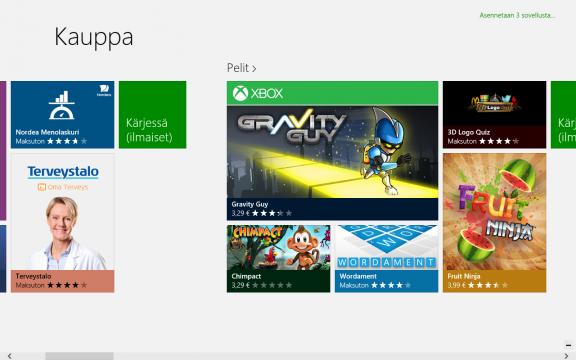 Windows 8:n mukana tuleva sovelluskauppa.