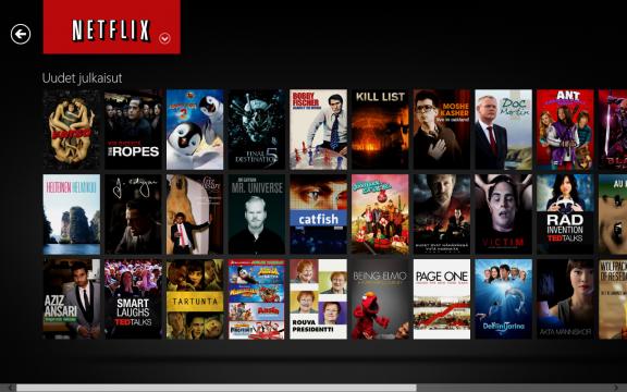 Windows 8:ssa voit katsella helposti sarjoja ja elokuvia Netflixistä!