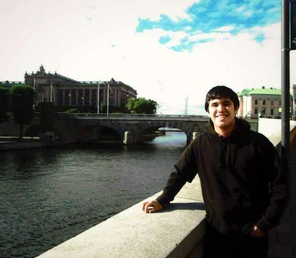 Koulumme perulainen vaihto-oppilas Diego.