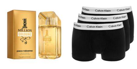3) Paco Rabanne 1 Million Cologne hajuvesi 63,50€ , Stockmann 4) Calvin Klein Underwear 3-Pack bokserit 44,95€ , Zalando