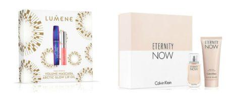 3) Lumene meikkilahjapakkaus 19,90€ , Sokos 4) Calvin Klein Eternity Now lahjapakkaus 44,90€ , Sokos