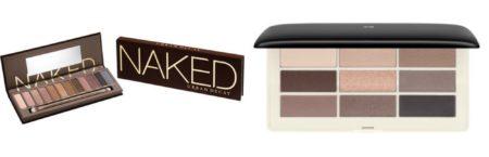 1) Urban Decay Naked Palette luomiväripaletti 54,90€ , Sokos 2) Luomiväripaletti 12,99€ , H&M